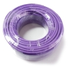 50m mini roll of LSZH Low smoke solid copper CAT6 in Purple