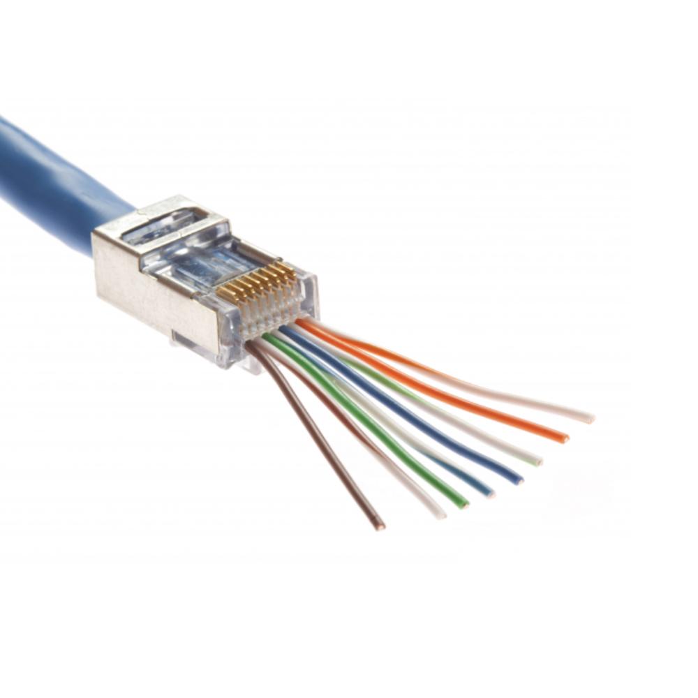ez rj45 100021c 50 shielded cat5e 8 pin rj45 ez rj45 crimp tool network cable plugs. Black Bedroom Furniture Sets. Home Design Ideas