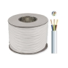 100m Reel 15A 3 core Mains Cable WHITE