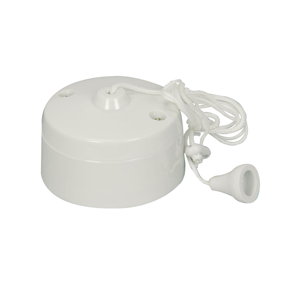 MEP BD3049 Bathroom Toilet Ceiling Pull Switch 6A WHITE 2 Way