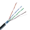 MEP CAT6e FTP LSZH Copper  Waterproof Network Cable Black 305m Reel