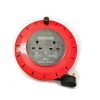 6M 2 Way Mains Extension Cable Reel UK Plug Garden Workshop Office 240v