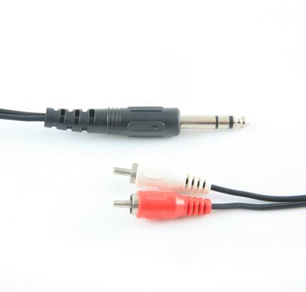 MEP 6.35mm stereo plug/2xRCA plugs 2m
