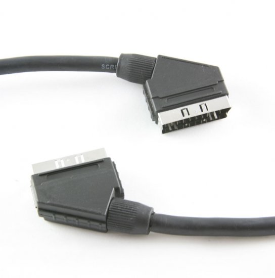 MEP Scart plug/plug (21 pins connected) with gripper (screened) 1.5m