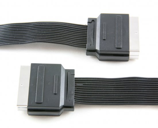 MEP Scart plug/plug ribbon cable