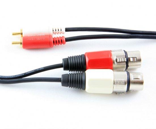 MEP 2xXLR sockets/2xRCA plugs 3m