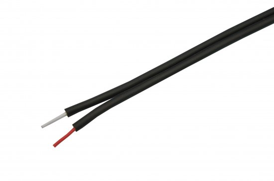 MEP Twin core Fig 8 screened cable, black, 100m