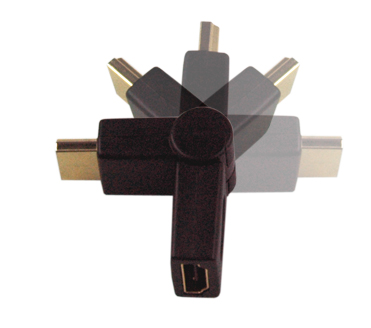MEP HDMI plug/socket adaptor(gold) (swivel) (version 1.3)
