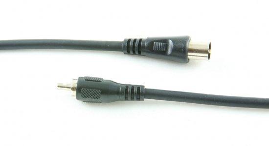 MEP RCA plug/coaxial plug 2m