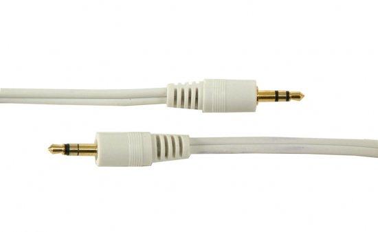 MEP 3.5mm stereo plug/plug white 0.5m (gold)