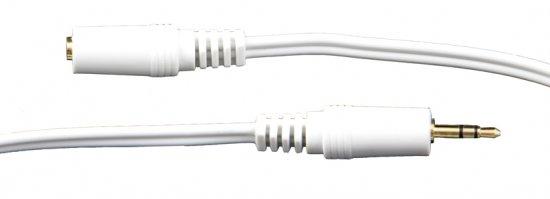 MEP 3.5mm stereo headphone extension white 0.5m (gold)